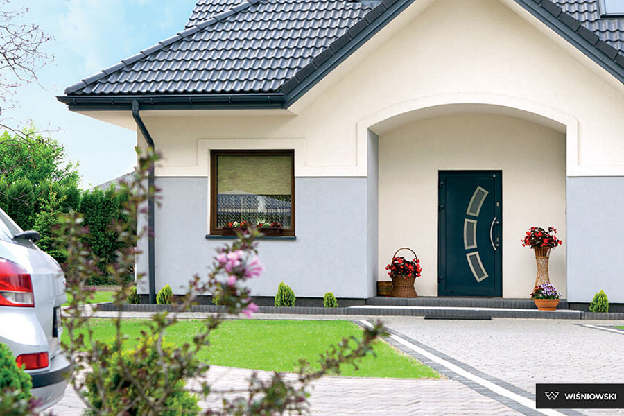 Drzwi zewnętrzne wyjściowe wejściowe