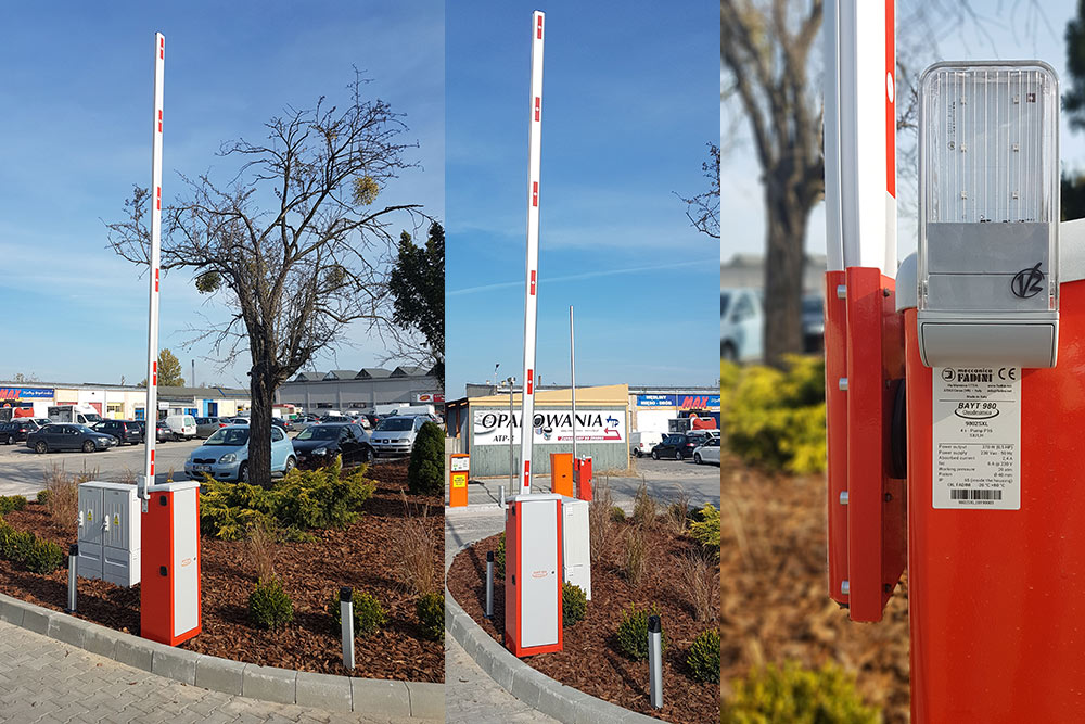 Szlabany hydrauliczne BAYT 980 wraz z automatycznym systemem parkingowym