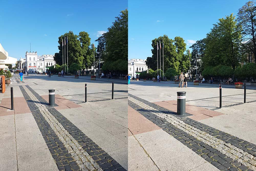 Automatyczne słupki parkingowe VIGILO - plac w Radomiu