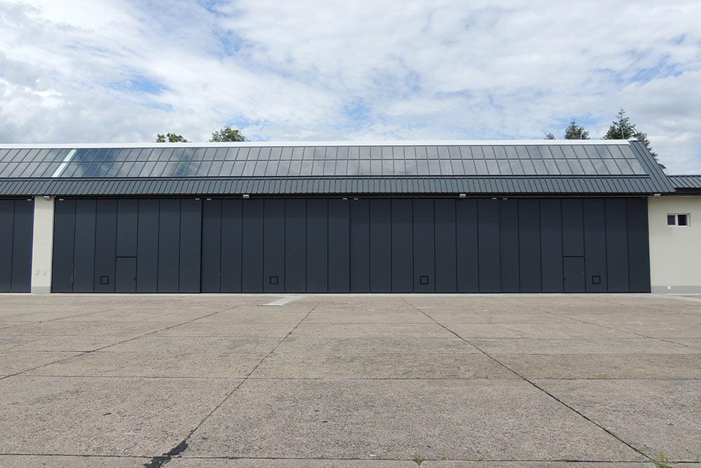 Brama hangarowa teleskopowa przesuwna czteroskrzydłowa 36200 x 57300mm
