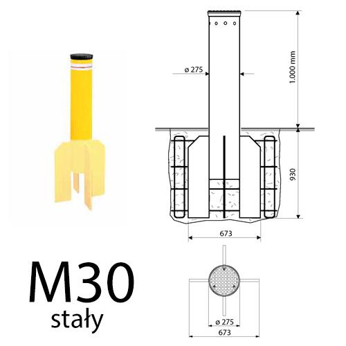 Pancerna blokada wjazdu Fadini TALOS M30 stała 1000mm