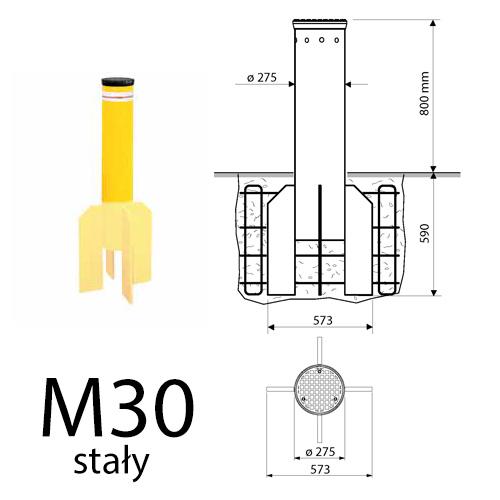 Pancerna blokada wjazdu Fadini TALOS M30 stała