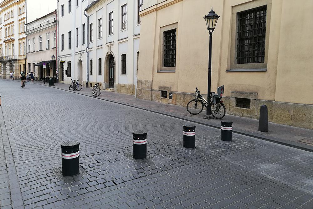Automatyczne słupki parkingowe TALOS 9400 - Stare Miasto Kraków