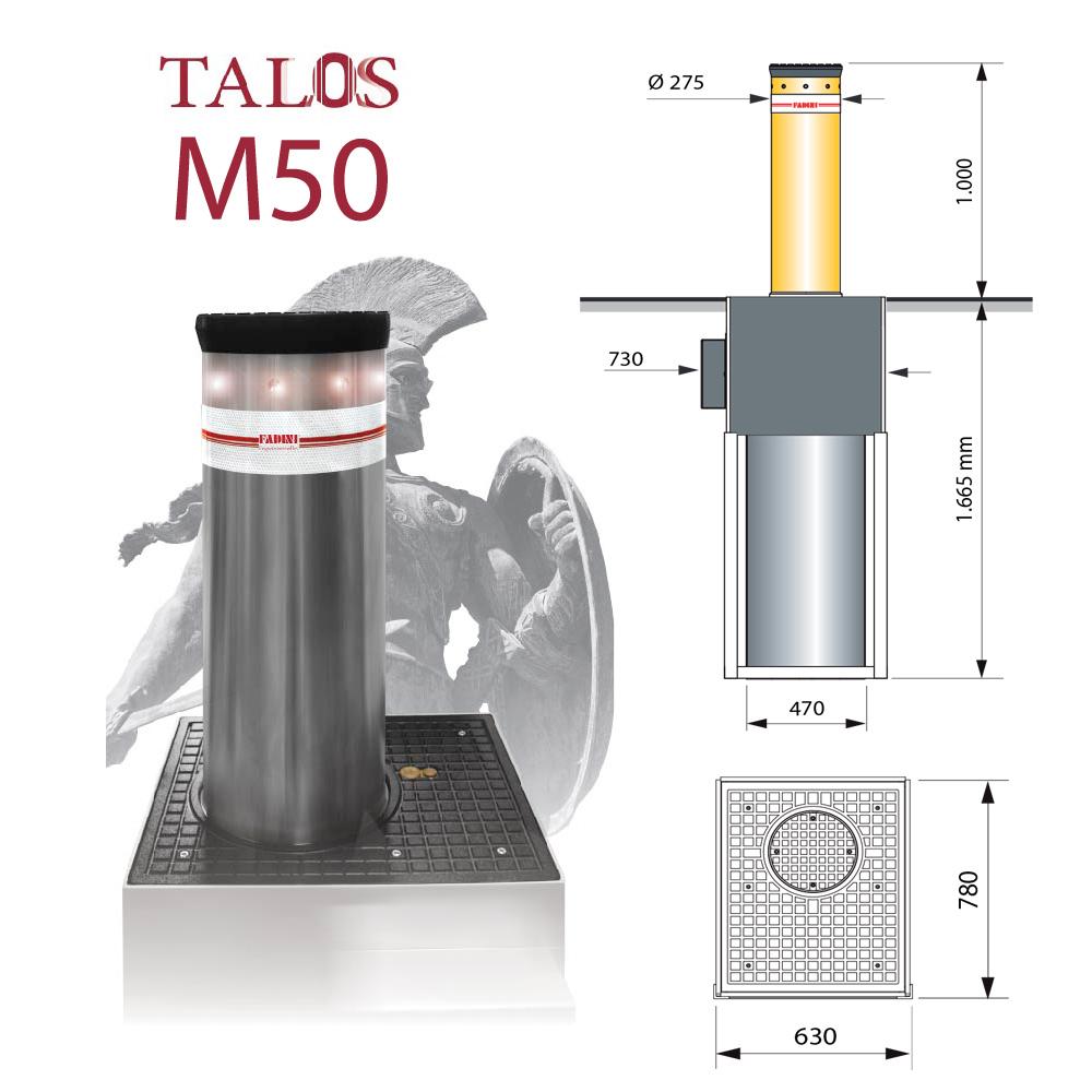 Certyfikowana automatyczna antyterrorystyczna blokada przejazdu Talos M50 FADINI